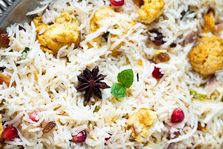 Tandoori Cauliflower & Nuts Pulaao | Tandoori Gobhi Pulaao