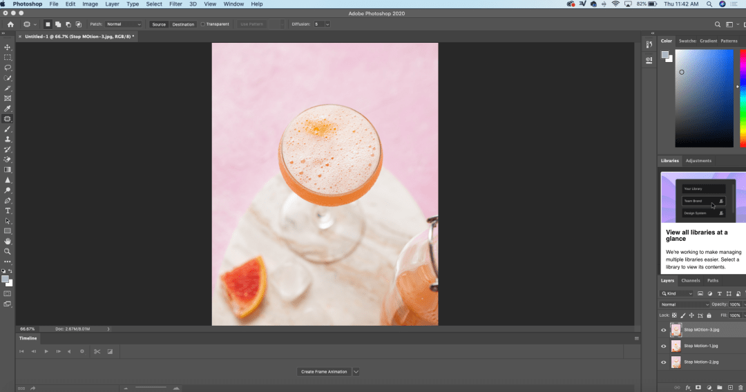 Exporting Food Stop Motion Videos for Social Media