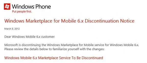 wm marketplace discontinued