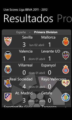 livescores Liga BBVA 2011-2012 7