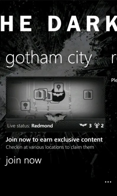 The Dark Knight Rises aplicación oficial en exclusiva para los Nokia Lumia 4