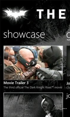 The Dark Knight Rises aplicación oficial en exclusiva para los Nokia Lumia 2