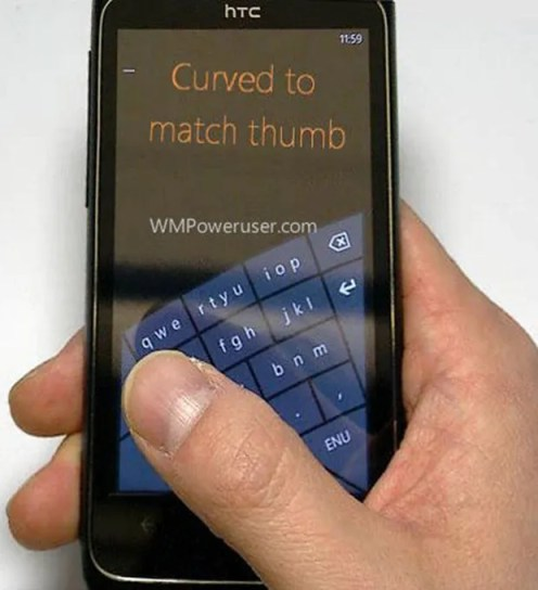 Teclado Curvo en Windows Phone