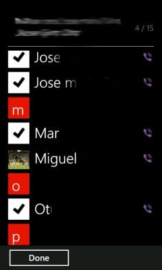 Viber 2.2 añadir contactos a grupo