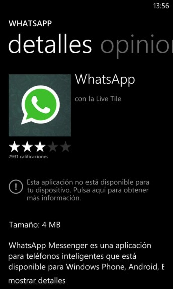 Whatsapp wp8