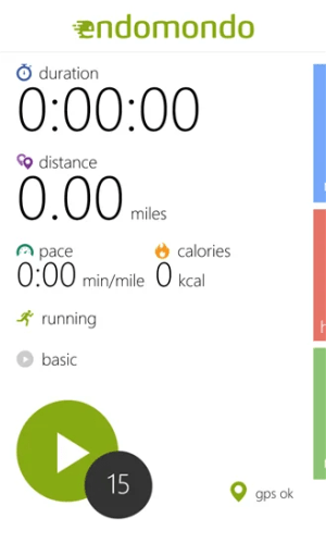 Endomondo Beta para Windows Phone 2