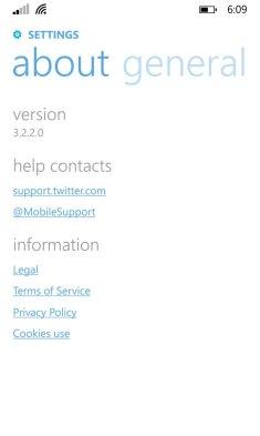 Twitter beta para Windows Phone 8.1 - sincronización contactos