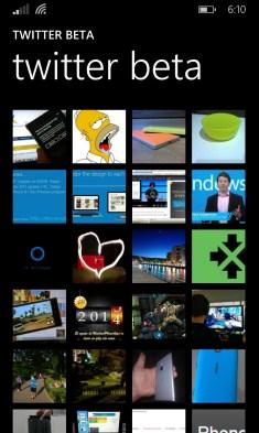Twitter beta para Windows Phone 8.1 - album