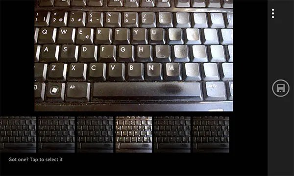 camara windows phone 8.1 - teclado