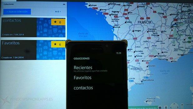 Here Maps sincronización