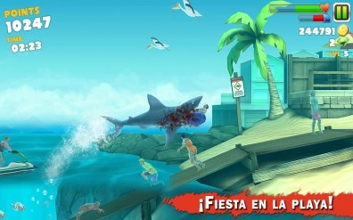 ¡Fiesta en la playa! en Hungry Shark Evolution