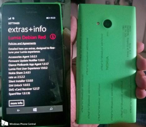 Nokia Lumia 730 con Lumia Debian Red