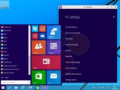 Windows 9 Preview Build 9834