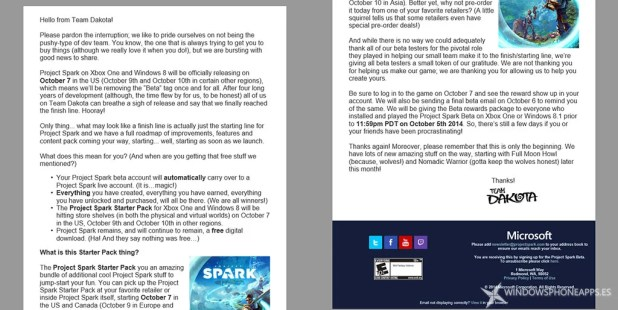 Correo Project Spark
