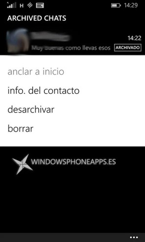 whatsapp beta chats archivados
