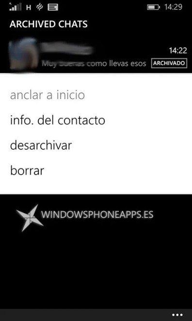 whatsapp beta chats archivados
