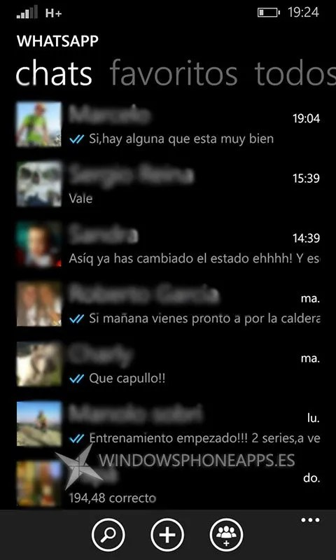 whatsapp beta doble check en la lista de chat