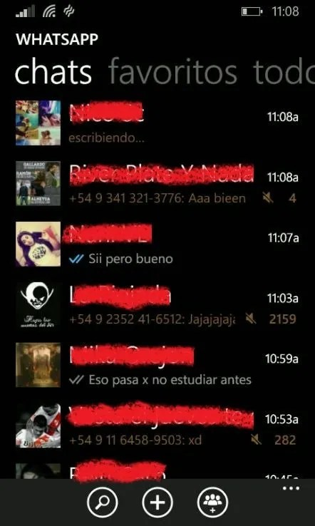 Doble Check en lista de Chats de WhatsApp