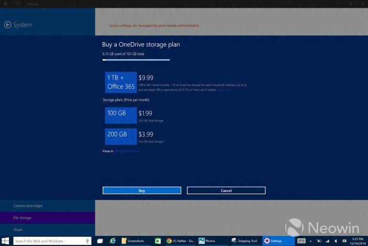 OneDrive Windows 10