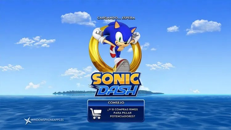 sonic dash windows 8 inicio