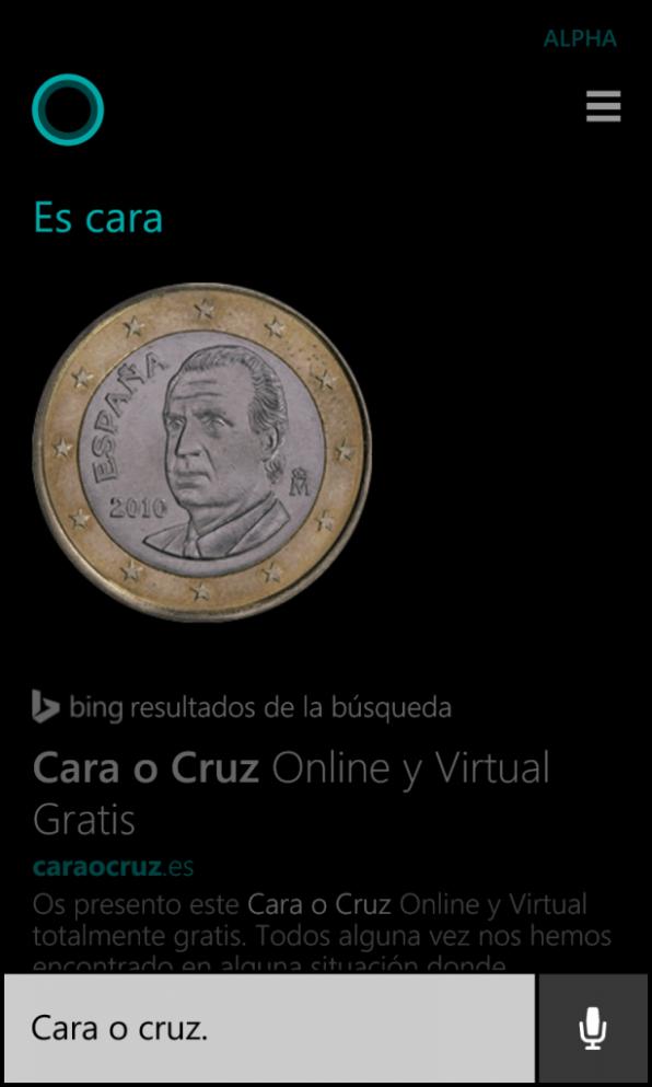 Cortana moneda