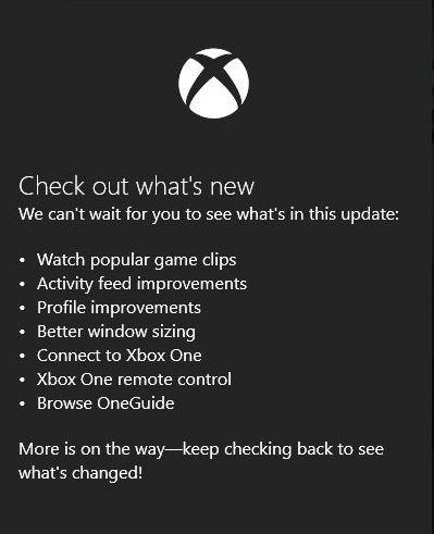 Cambios en la app Xbox