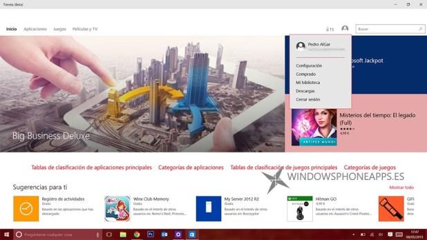 tienda beta windows 10
