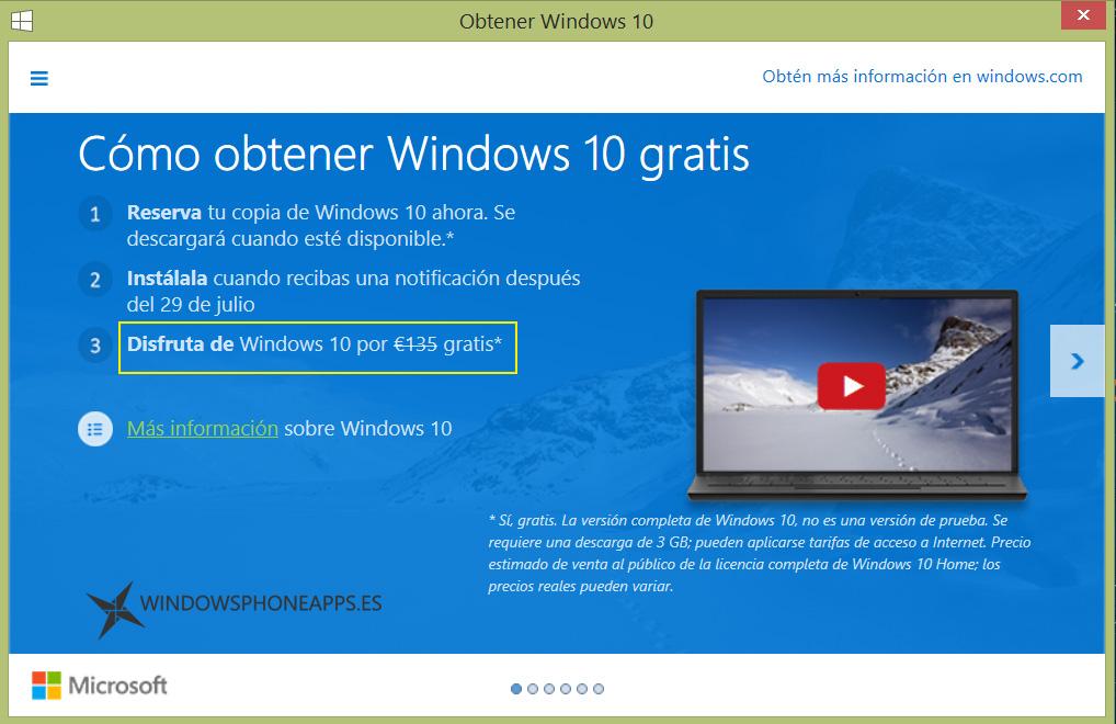 Precio de Windows 10 Home