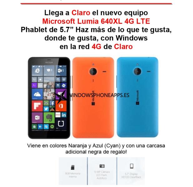 Lumia 640XL Claro