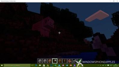 minecraft edicion windows 10 beta - noche