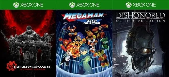 Dishonored Definitive Edition, Mega Man Legacy Collection y Gears OF War Ultimate Edition.