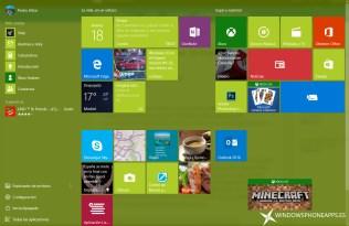 menu inicio windows 10 build 10547