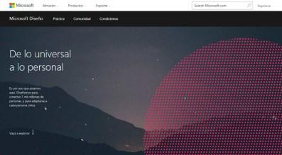 Microsoft Design (diseño), inicio