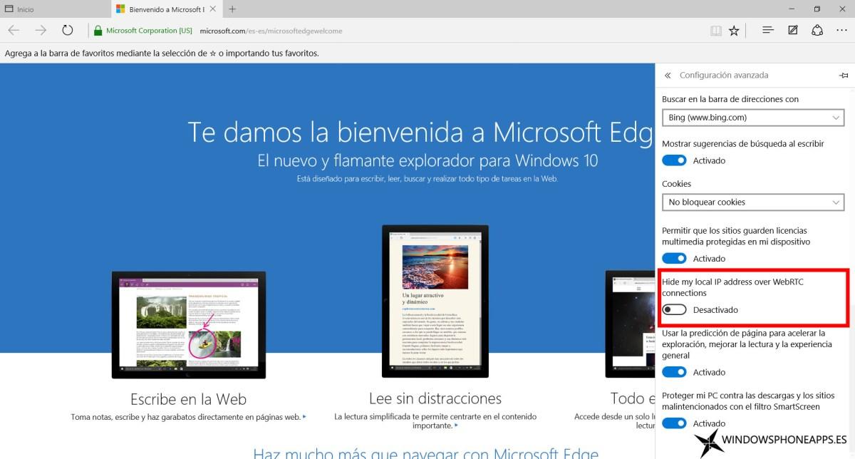 webrtc windows 10 build 10547