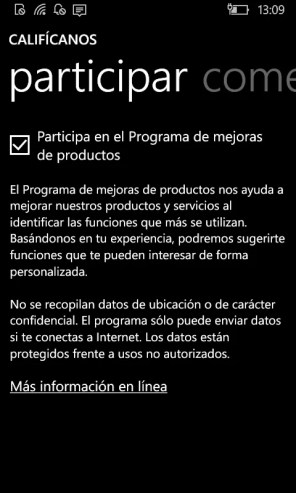 Califícanos en Windows Phone 8.1 (2)