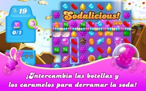 Pantalla de juego de Candy Crush Soda Saga Windows 10 PC