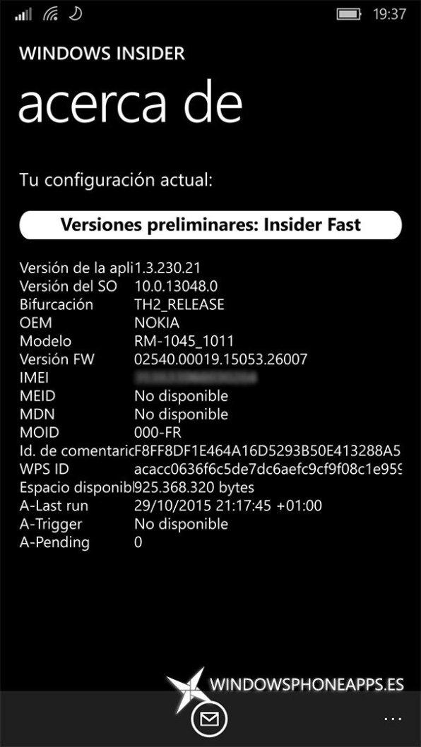 Acerca de Windows Insider ANTES