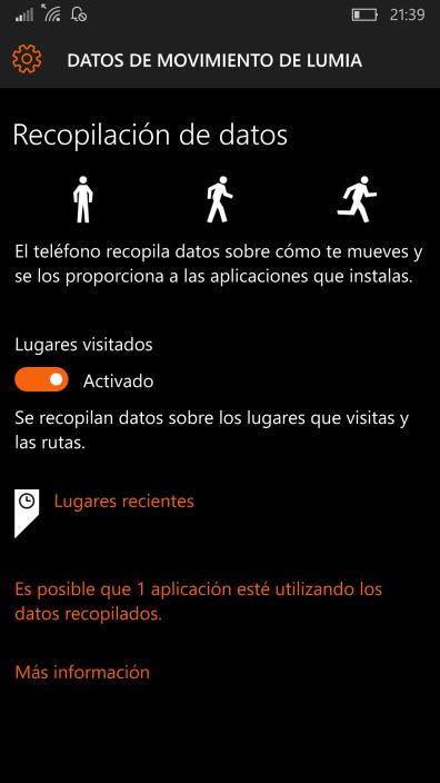 Datos de movimiento de Lumia (2)