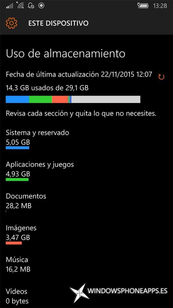 Este dispositivo de Almacenamiento en Windows 10 Mobile