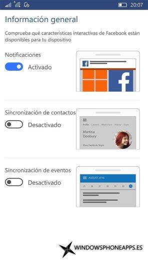 Facebook para Windows 10 Mobile (1)