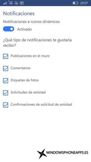 Facebook para Windows 10 Mobile (2)