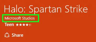 Lista de apps de un mismo desarrollador en la tienda de Windows 10