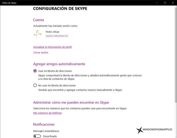 video de skype confi