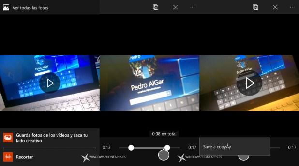 video recorte