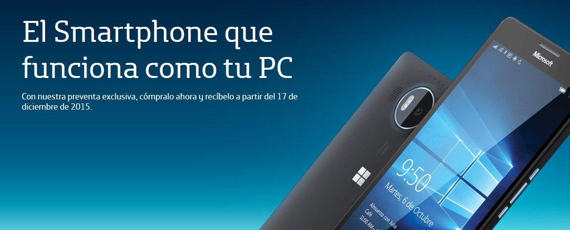 Microsoft Lumia 950 XL con Movistar México, el smartphone que funciona como tu PC