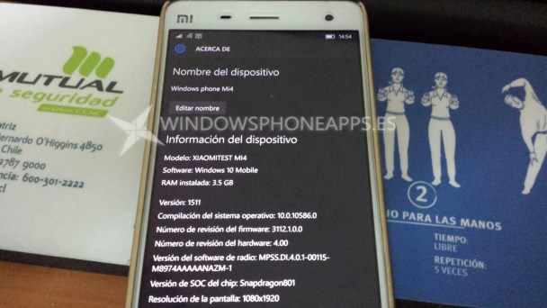 XIaomi Mi4 Windows 10 Mobile (2)