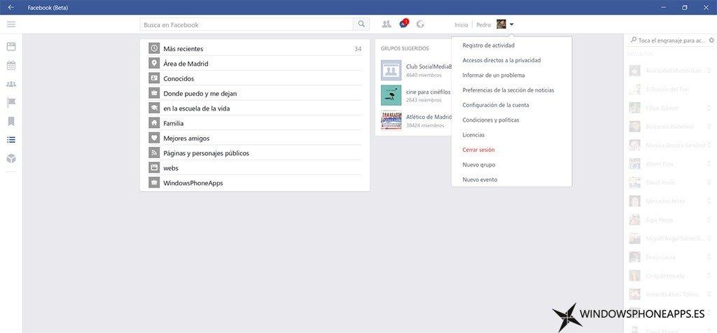 facebook beta antes