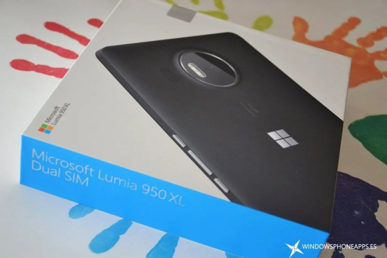 lumia 950 xl - caja