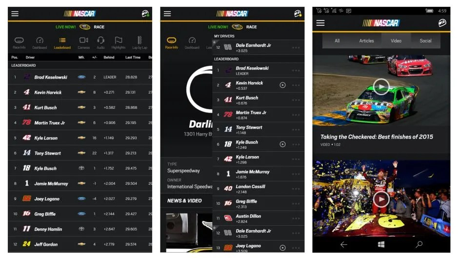 NASCAR-for-Windows-10-mobiel