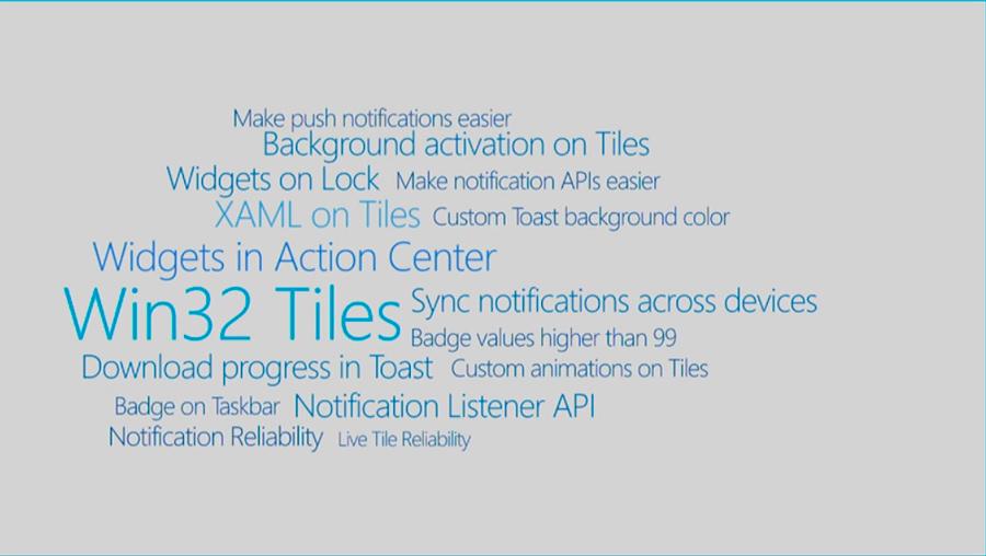Novedades notificaciones y tiles para Windows 10